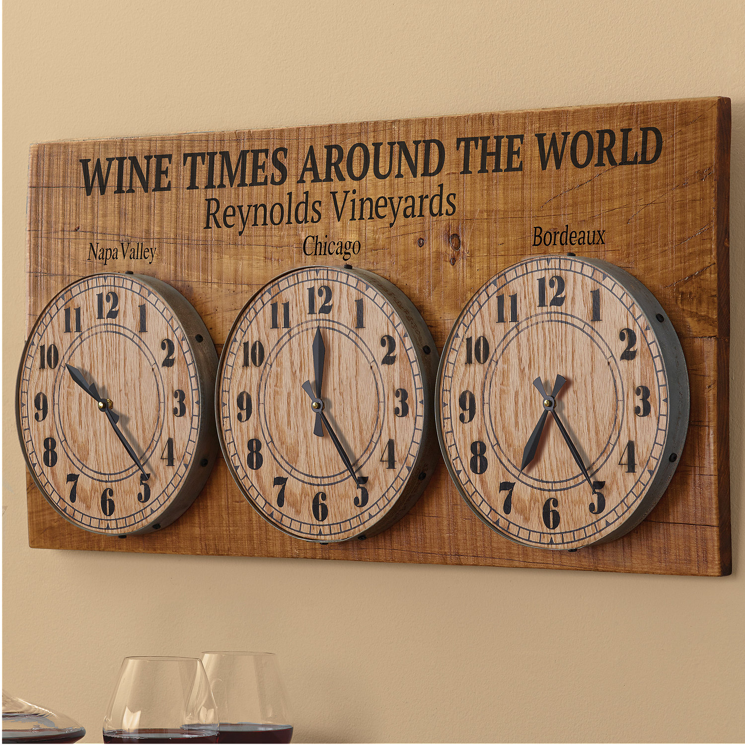 Personalized wine times around the world clock wine enthusiast preparing zoom amipublicfo Choice Image