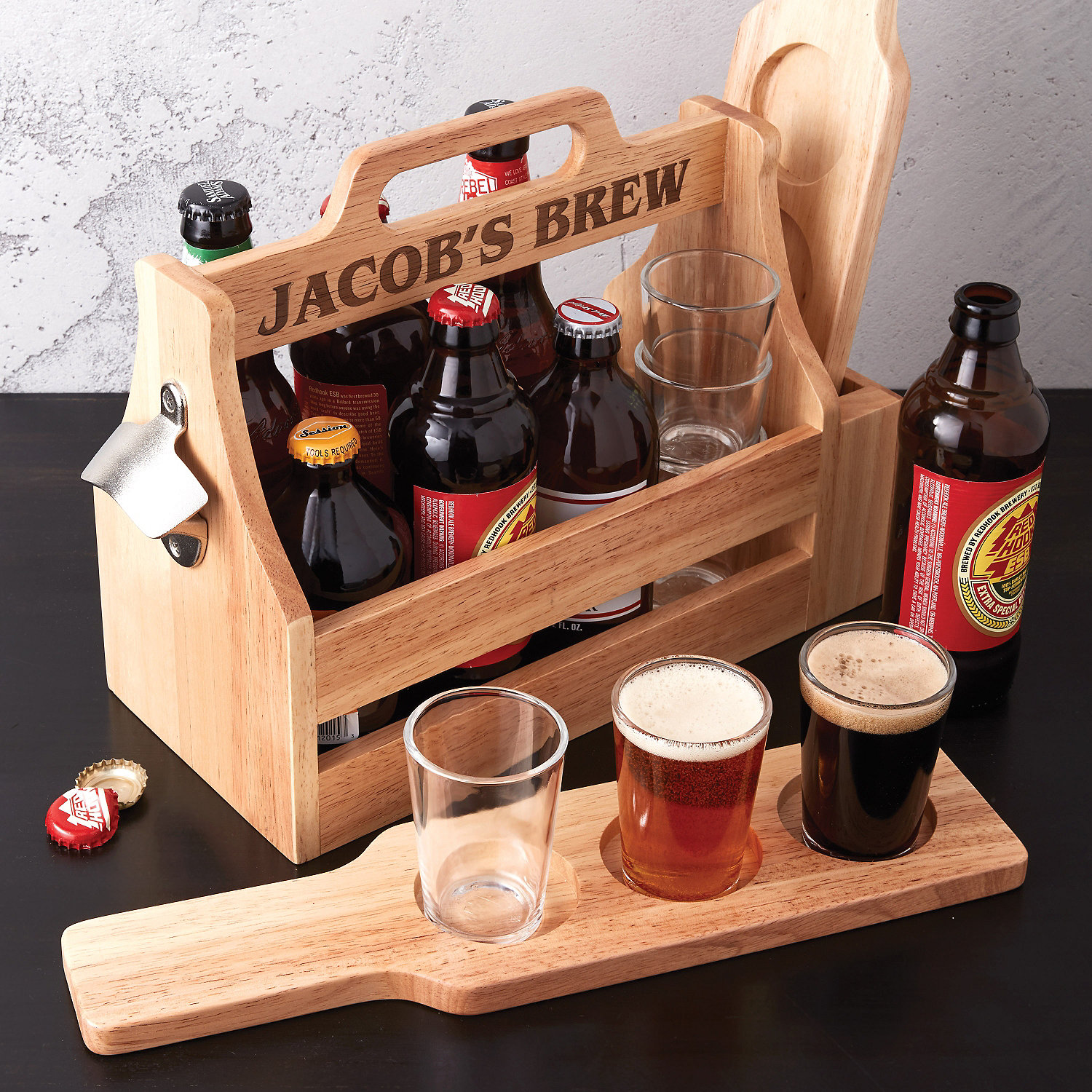 Personalized Craft Beer Gift Set - Wine Enthusiast