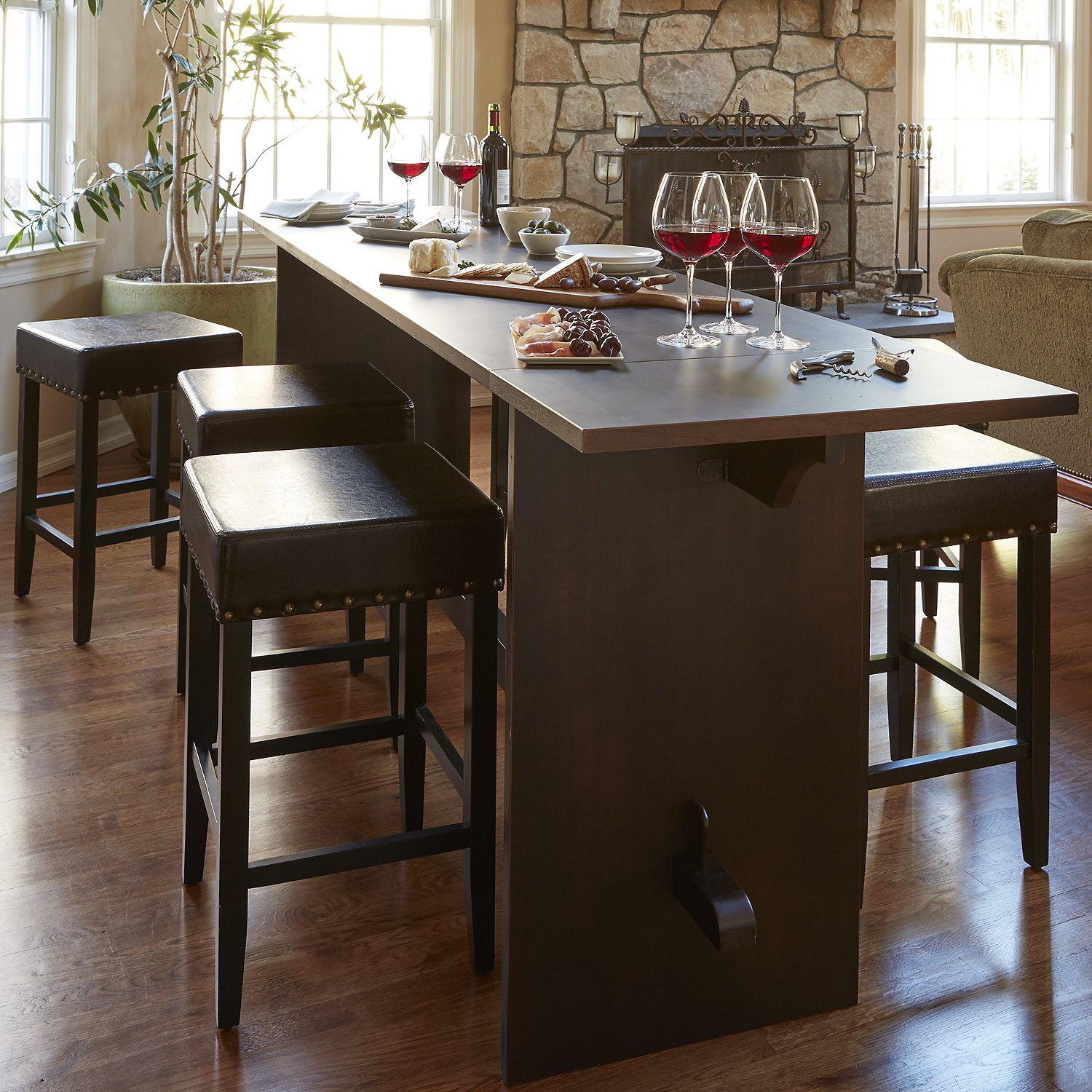 ... Gathering Table Set with 2 Stools. Preparing Zoom & Gathering Table Set with 2 Stools - Wine Enthusiast