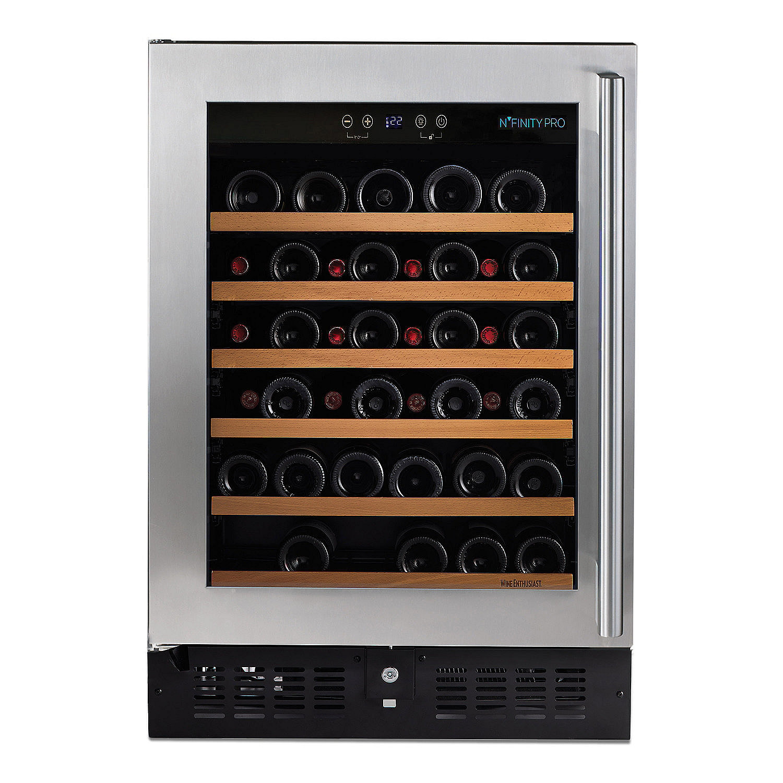 Preparing Zoom  sc 1 st  Wine Enthusiast & Nu0027FINITY PRO S RED Wine Cellar Left Hinge (Stainless Steel Door ...