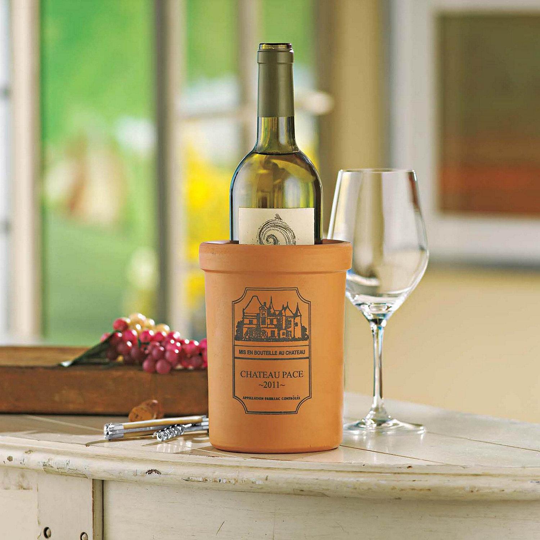 Personalized Terra Cotta Wine Chiller Wine Enthusiast
