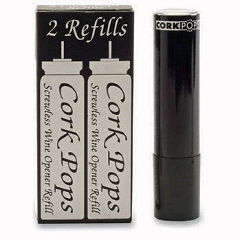 cork pops iii corkscrew replacement cartridges set of 2 - Wine Openers