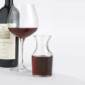 Individual wine decanters set of 4 wine enthusiast for Wine carafes and decanters
