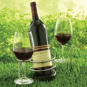 Set of Steady Sticks Outdoor Wine Bottle and