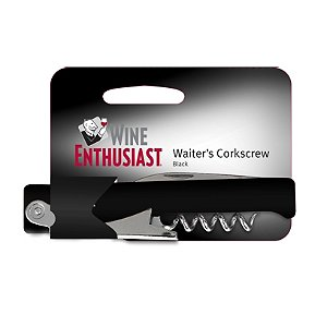 Wine Enthusiast Waiter Style Corkscrew (Black)