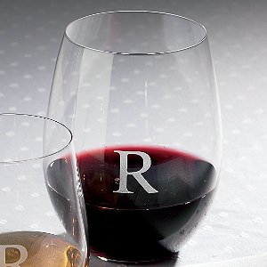 Personalized Riedel 'O' Cabernet Stemless Wine Glasses (Set