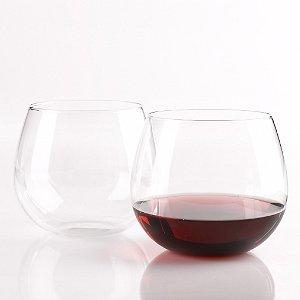 Wine Enthusiast U Pinot Noir Stemless Wine Glasses