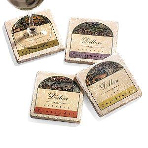 Personalized Italian Marble Coaster Set (Set of 4)