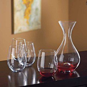 Wine Enthusiast Decanter & Tumblers Gift Set