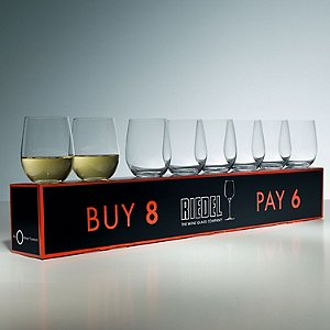 Riedel 'O' Buy 8 Pay 6 Chardonnay Stemless