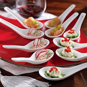 Porcelain Appetizer Spoons