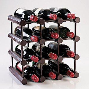 Modular 12 Bottle Wine Rack (Mahogany)