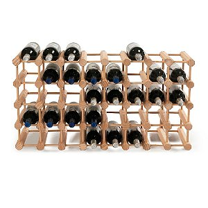 Modular 40 Bottle Pine Wine Rack (Natural)