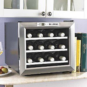 Wine Enthusiast Silent 12 Bottle Wine Refrigerator (Stainless
