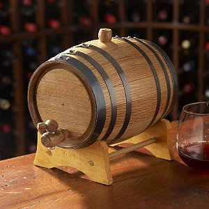 2 Liter Mini Oak Wine Barrel