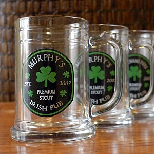 Personalized Irish Pub Beer Mugs (Set of 4)