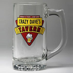 Personalized Red Tavern Beer Mugs (Set of 4)