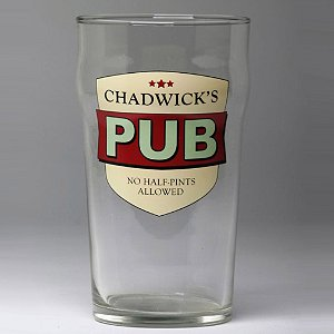 Personalized No Half-Pints Allowed Beer Glasses (Set of