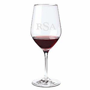 Monogrammed Fusion Classic Cabernet/Merlot/Bordeaux Wine Glasses