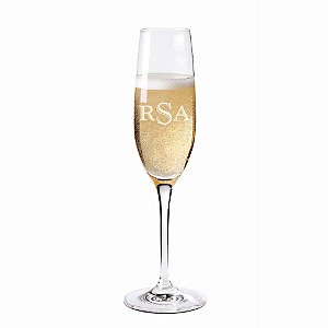 Monogrammed Fusion Classic Champagne Flutes (Set of 4)