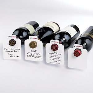 White Reusable Wine Bottle Tags