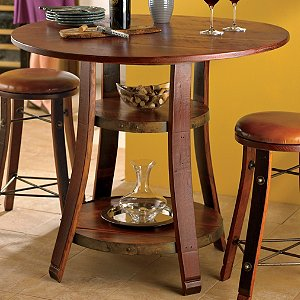 Vintage Oak Bistro Table