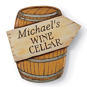 Personalized Wine Cellar Barrel Sign