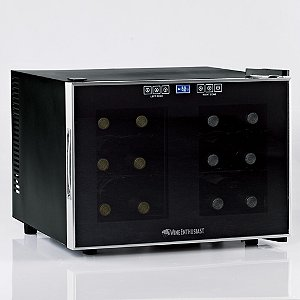 Wine Enthusiast Silent 12 Bottle Dual Zone Touchscreen