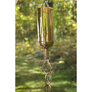 Wine Bottle Rain Chain