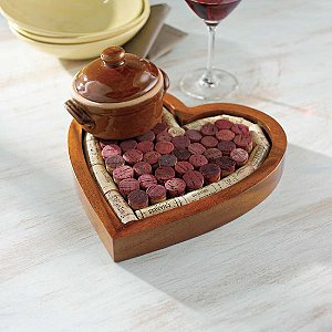 Heart Shaped Corkboard/Cork Trivet Kit