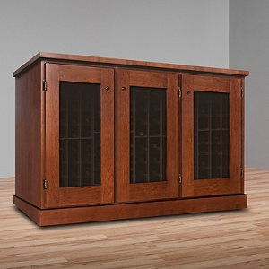 Vinotheque Basic Window Credenza with N'FINITY Cooling Unit