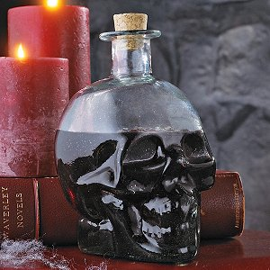 Green Glass Skull Decanter