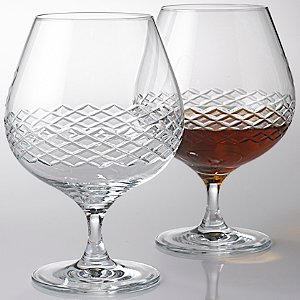 Brandy Glasses with Diamond Band (Set of 2)