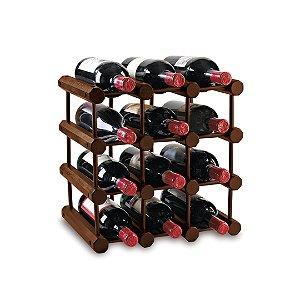 Modular 12 Bottle Wine Rack (Walnut)