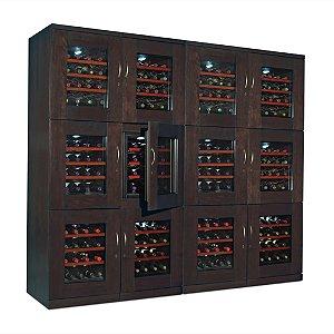 Trilogy Quad Wine Cellar (Espresso)