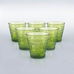 Italian Provenzale Green Tumblers (Set of 6)