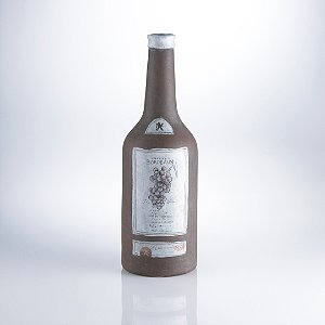 Large Bordeaux Bottle Terra Cotta Vase