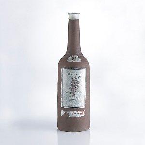 Extra Large Bordeaux Bottle Terra Cotta Vase