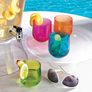 Neon Tumblers Set of 4 Mixed Colors