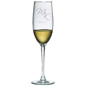 Personalized 8 oz Connoisseur Champagne Flutes (Set of