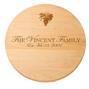 Personalized Maple Lazy Susan with Grape Imprint (16