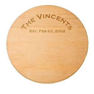 Personalized Maple Lazy Susan with Rounded Edge(16 inches)