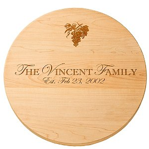 Personalized Maple Lazy Susan with Grape Imprint (18