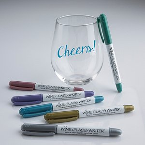 Wine Glass Writer Metallic Pens (6 Pack)