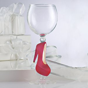 Collectible Pink Stiletto Wine Glass