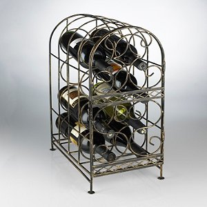 Antique Bronze 8 Bottle Wine Jail