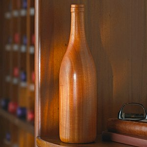 Wooden Wine Bottle Burgundy (Finished)