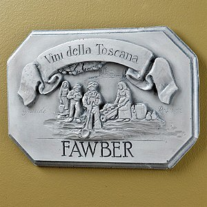Personalized Vini Della Toscana Label Wall Plaque (White