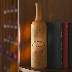 Personalized Wooden Wine Bottle Bordeaux (Unfinished)