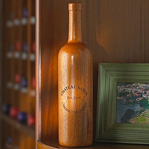 Personalized Wooden Wine Bottle Bordeaux (Finished)